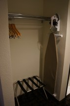 Closet cubby and ironing board